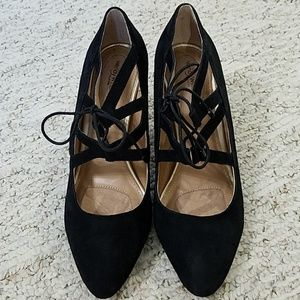 Wendy Williams Collection Lace-up Heels, sz 10
